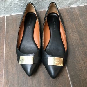 Banana Republic gold and black flats